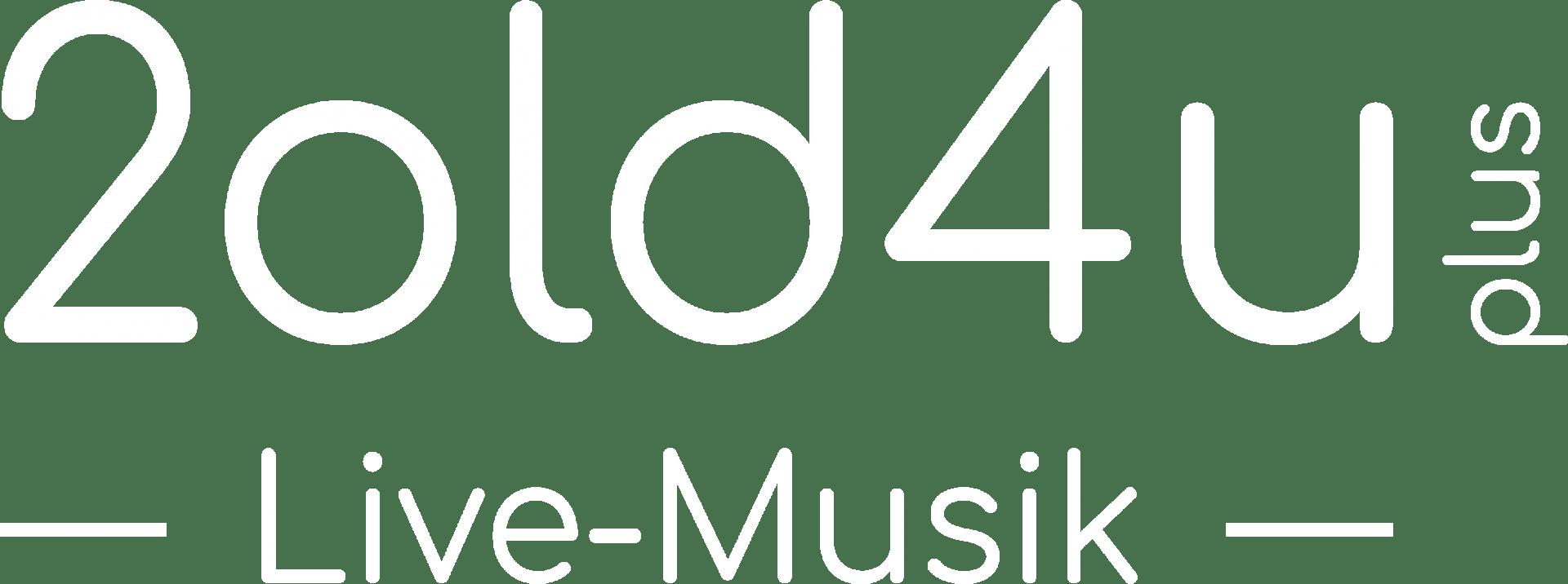 Logo 2old4u+ (weiß)