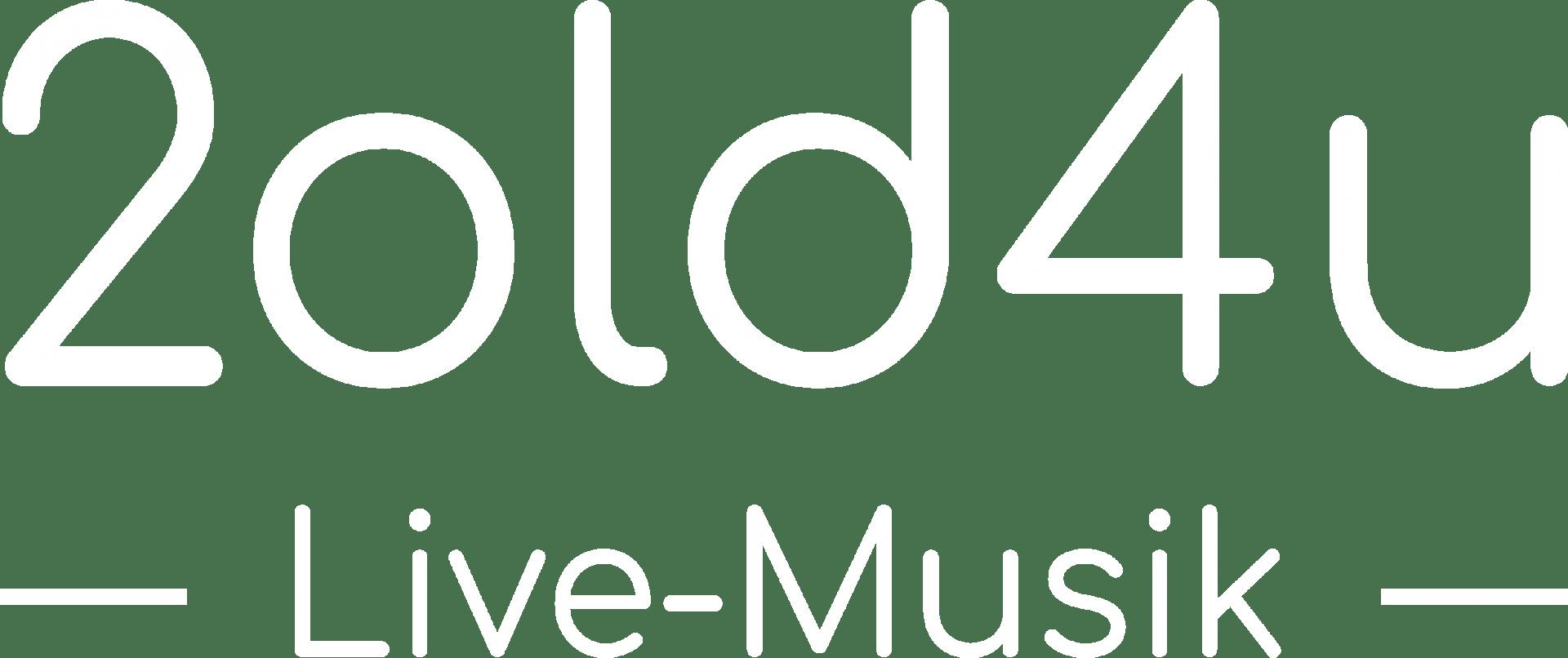Logo 2old4u (weiß)